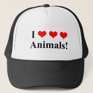 I love animals! trucker hat