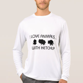I Love Animals With Ketchup Shirts