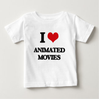 I love Animated Movies Tee Shirt