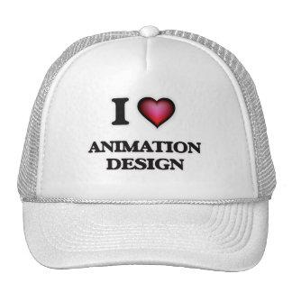 I Love Animation Design Trucker Hat