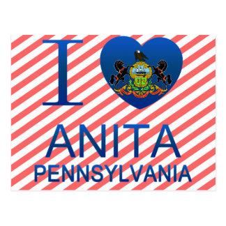 I Love Anita, PA Postcard