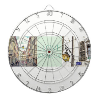 """I Love Annecy"" Dartboard"