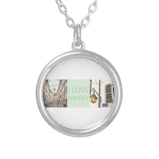"""I Love Annecy"" Necklace with Round Pendant"