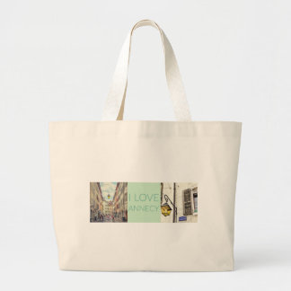 """I Love Annecy"" Photo Banner Large Tote Bag"