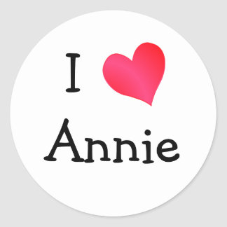 I Love Annie Classic Round Sticker