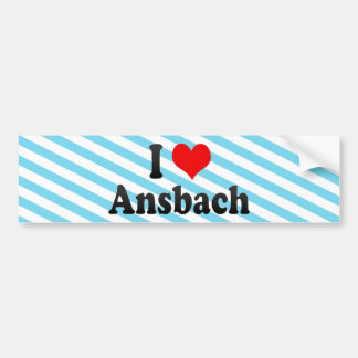 I Love Ansbach, Germany Bumper Sticker