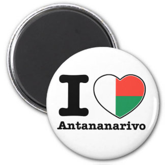 I love Antananarivo 2 Inch Round Magnet