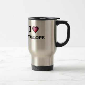 I Love Antelope Travel Mug
