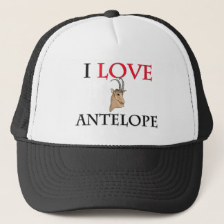 I Love Antelope Trucker Hat
