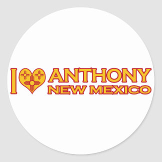 I Love Anthony, NM Classic Round Sticker