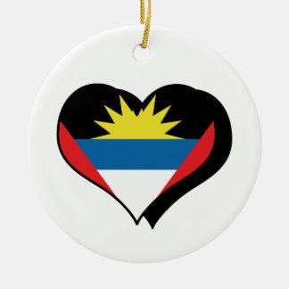 I Love Antigua And Barbuda Ornament