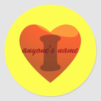 I love (any name) template sticker