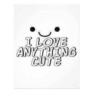 I Love Anything Cute Letterhead