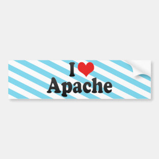 I Love Apache Bumper Sticker