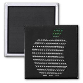I love Apple 5.1 Cm Square Magnet
