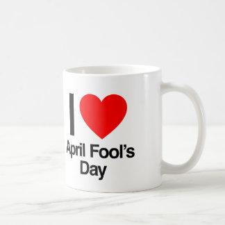 i love april fool's day coffee mug