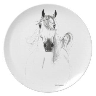 I love Arabian Horses Dinner Plate