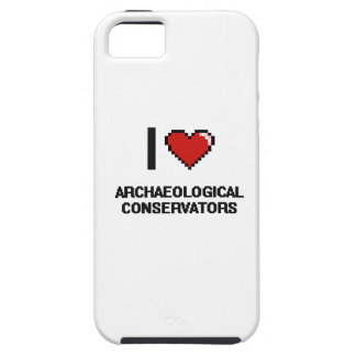I love Archaeological Conservators iPhone 5 Covers