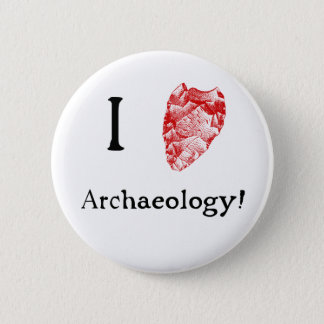 I Love Archaeology Badge 2 Inch Round Button
