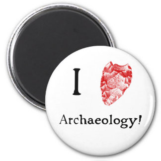 I Love Archaeology Fridge Magent Magnet