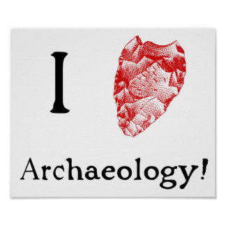 I Love Archaeology Poster