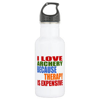 I Love Archery Because Therapy Is Expensive 532 Ml Water Bottle