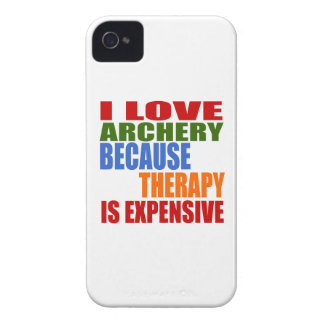 I Love Archery Because Therapy Is Expensive Case-Mate iPhone 4 Case