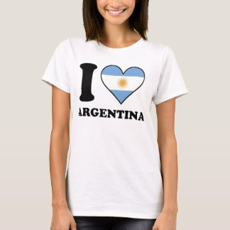 I Love Argentina Argentinian Flag Heart T-Shirt