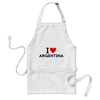 i love Argentina country nation heart symbol text Standard Apron