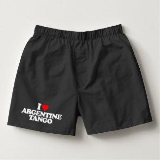 I LOVE ARGENTINE TANGO BOXERS