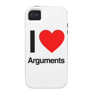i love arguments iPhone 4 cover