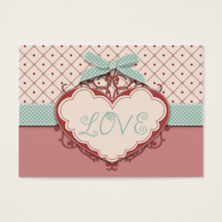 I Love Argyle Gift Tag Business Card