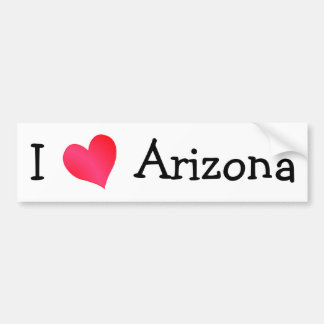 I Love Arizona Bumper Sticker