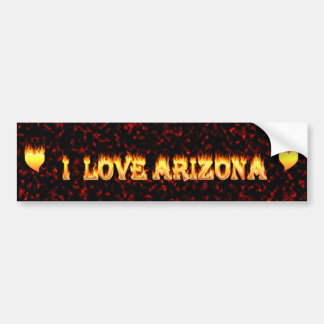 I love arizona fire and flames bumper sticker