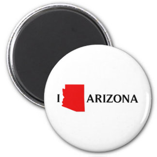 I Love Arizona - I Love AZ 2 Inch Round Magnet