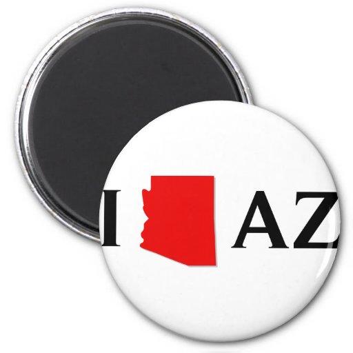 I Love Arizona - I Love AZ - Arizona State Refrigerator Magnet
