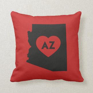 I Love Arizona State Throw Pillow