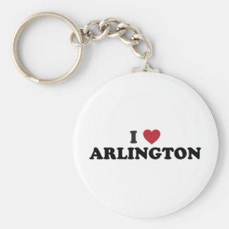 I Love Arlington Texas Basic Round Button Keychain