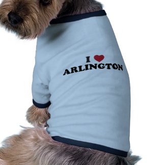 I Love Arlington Texas Pet Tee Shirt