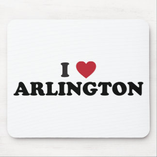 I Love Arlington Texas Mouse Pads