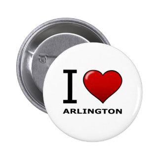 I LOVE ARLINGTON VA - VIRGINIA PINS