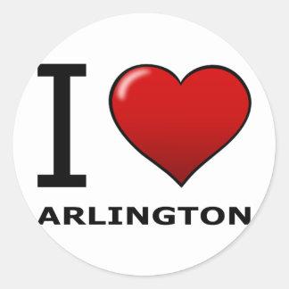 I LOVE ARLINGTON,VA - VIRGINIA ROUND STICKER