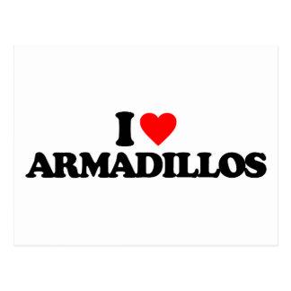 I LOVE ARMADILLOS POSTCARD