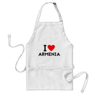 i love Armenia country nation heart symbol text Standard Apron