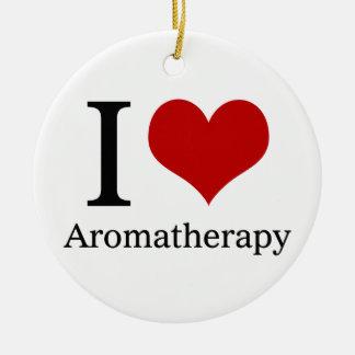 I Love Aromatherapy Ceramic Ornament