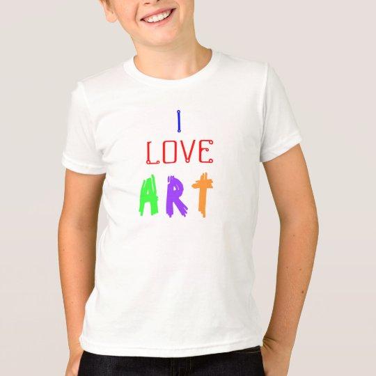 I Love Art Kids' Shirt