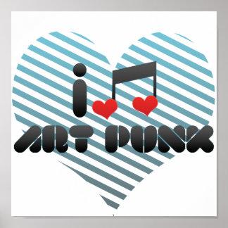 I Love Art Punk Poster