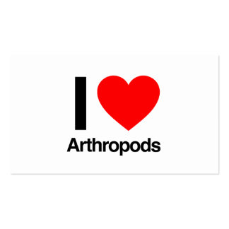i love arthropods business card templates