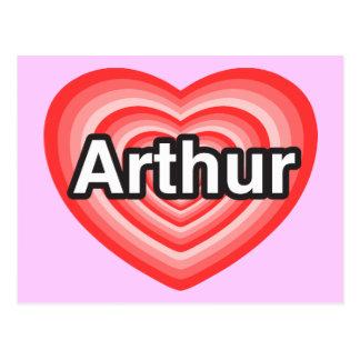 I love Arthur. I love you Arthur. Heart Postcard