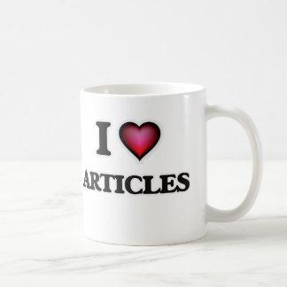I Love Articles Coffee Mug